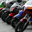 Row of motocycles — Stock Photo
