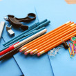 School office supplies - Stock Photo