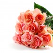 Stock Photo: Pink rose bouquet on white