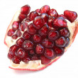 Pomegranate on white — Stock Photo