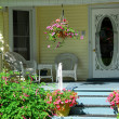 House porch with flowers - Stock Photo