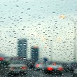Traffic rainy day — Stock Photo