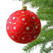 Red Christmas ball — Foto de Stock