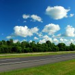 Stock Photo: Road and blue sky