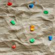Rock climbing wall - Stock Photo