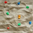 Stock Photo: Rock climbing wall