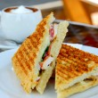 Sandwich and coffee - Foto de Stock