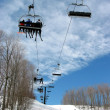Downhill ski chairlift — Stock Photo