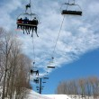 Stock Photo: Downhill ski chairlift