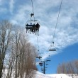 Stock Photo: Ski chairlift