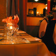 Dinner table setting 1 - Foto Stock