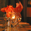Dinner table setting - Foto Stock