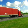 Fast moving truck — Stock Photo #7085386
