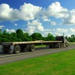 Fast moving truck — Stock Photo #7085387