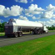 Speeding truck gasoline - Stock Photo