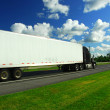 Fast moving truck — Stock Photo #7085390