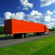 Royalty-Free Stock Photo: Truck speed highway