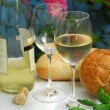 White wine with glasses — Stock Photo #7085463