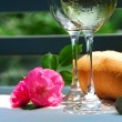 Stock Photo: Two wine glasses