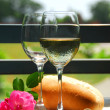 Stock Photo: Two wine glasses with wine