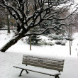 Winter bench 1 — Stock Photo