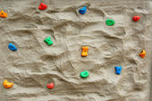 Rock climbing wall — Foto Stock
