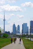Toronto city skyline — Stock Photo