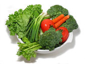 Fresh vegetables in a bowl — Stock Photo