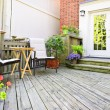 Stock Photo: Wooden deck at home