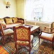 Foto Stock: Interior with antique furniture