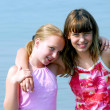 Two preteen girls — Stock Photo