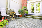 Wooden deck at home — Stock Photo
