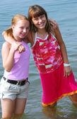 两个青春期女孩 — 图库照片