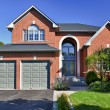 Detached suburban home - Stock Photo