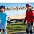 Girls rollerblade — Foto Stock