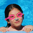 Royalty-Free Stock Photo: Girl child pool