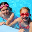 Girls children pool — Stock Photo #7610814