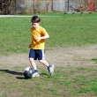 Boy playing soccer — Stock Photo #7611494