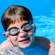 Boy child pool — Stock Photo