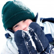 Winter boy fun — Stock Photo
