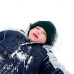 Boy child winter fun — Stock Photo