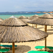 Beach umbrellas at resort - Foto Stock