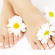 Female feet with pedicure — Stock Photo