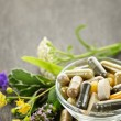Stock Photo: Herbal medicine and herbs