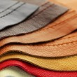 Leather upholstery samples - Stock Photo