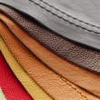 Leather upholstery samples — Stock Photo #7611985