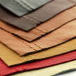 Leather upholstery samples — Stock Photo #7611990
