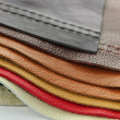 Leather upholstery samples — Stock Photo #7611995