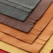 Leather upholstery samples - 图库照片