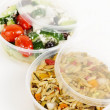 Royalty-Free Stock Photo: Prepared salads in takeout containers